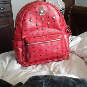 Red MCM Stark Backpack